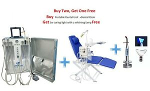 Portable Dental Unit 4h dental Chair With Led Lamp water Supply 5w Curing Light