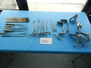 V Mueller Pilling Surgical Ob gyn Instrument Set 3