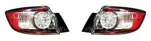 2010 2013 Mazda 3 Hatchback Tail Lamp Light Led Type Left And Right Pair Set