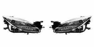 2009 2010 Mazda 6 Head Lamp Light Xenon Type Left And Right Pair Set