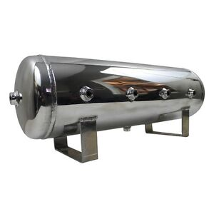 Vera 4 Gallon Polished Aluminum Chrome Air Tank 7 Port