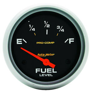 Autometer Pro Comp Electric Universal Gm Chevy Fuel Level Gauge 2 5 8 67mm