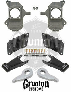 Mcgaughys Chevy Silverado 2500hd 3 5 Drop Kit Extended Cab Spindles 33081