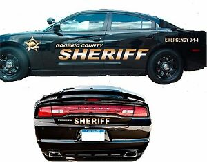 Sheriff Vehicle Patrol Car Suv Vinyl Graphic Decal Lettering Kit