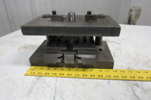 Punch Press Die Set Die Shoe Rectangular Back 2 Post 12 w X 7 4 1 2 Throat