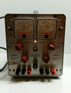 Power Designs All Silicon Semiconductor Model Tw5005 Twin Power Supply