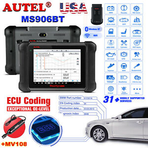 Autel Maxisys Ms906bt Obd2 Auto Diagnostic Tool Wireless Scanner Replace Ms906
