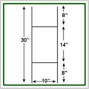 100 Pack Corrugated H frame Wire Stakes Signs Not Included