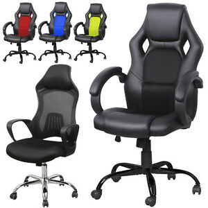 High Back Race Car Bucket Seat Office Desk Chair Racing Gaming Computer Chair