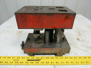 Punch Press Die Set shoe Rectangular Back 2 Post 5 5 8 w X 9 1 4 fb 6 Throat