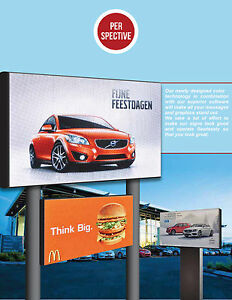 Full Color Led Sign 10mm Hd Size 34 X 98 Double Sided Outdoor Message Display