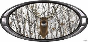Deer Buck Snow Camouflage Hunting Vinyl Graphic Decal Sticker
