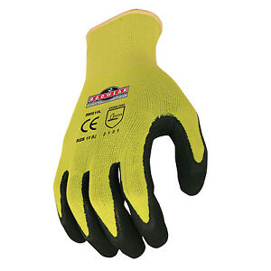 Radians Rwg10 Work Gloves With Micro foam Dipped Latex Coated For Construction
