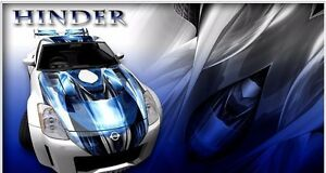 Race Car Truck Hood Wrap Vinyl Graphic Decal Style Hinder