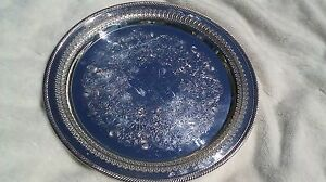 Great Condition 15 Round Silver Plate Wm Rogers Platter 172