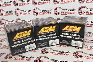 Aem 3 Gauge Combo Set Wideband Uego Oil Pressure Boost 30 4406 30 4407 30 4110