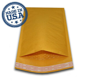 1500 00 5x10 Kraft Bubble Padded Mailers Shipping Self Seal Envelopes 5 X 10