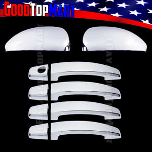 For Chevy Cruze 2011 2012 2013 2014 Chrome Covers Set Mirrors 4 Door Handles W O