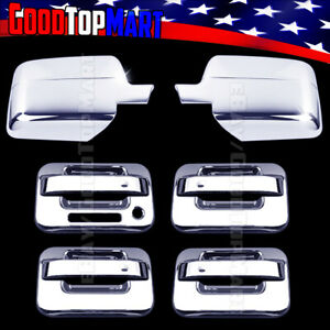 For Ford F150 2004 2005 2006 2007 2008 Chrome Covers Set Mirrors 4 Doors Keypad