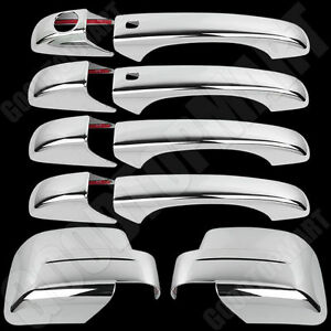 Chrome Full Mirror Door Handles Covers Smart Kh For Jeep Patriot 08 12