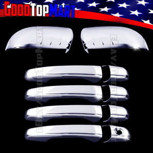 For Ford Edge 2011 2013 2014 Chrome Covers Set Half Mirrors 4 Door Handles W O