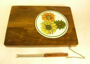 Vintage Danish Modern Cheese Tray Wood Mid Century