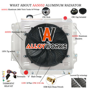 Aluminum Shroud 16 Electric Cooling Fan For 87 06 Jeep Wrangler Yj Tj 2 4 4 2l