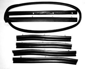 New 1965 1968 Mustang Convertible Top 5 Piece Weatherstrip Kit Header Sides