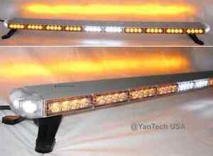 50 Amber Led Light Bar Tow Truck Roll Back Wrecker W Alley Brake Turn Signal