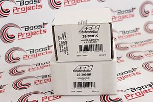 Aem Adjustable Fuel Pressure Regulator High Volume Filter 25 303bk 25 200bk