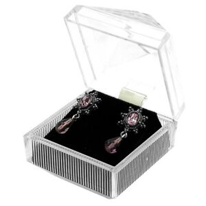 Wholesale Lot 24 Clear Crystal Style Earring Jewelry Display Gift Boxes