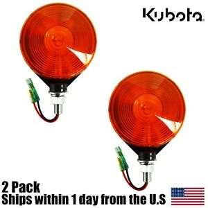 2 Genuine Oem Kubota 3c081 75870 Amber Hazard Light B L M Series Tractors