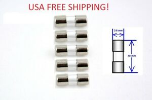 Set Of 5 4a 125 250v Micro Glass Fuse 3 6 X 10mm Usa Free Shipping