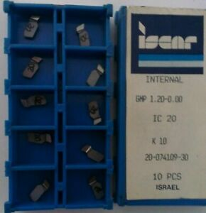 Iscar Gmp 1 20 0 00 Ic 20 Internal Carbide Inserts 10pc Lathe Grooving Self Grip