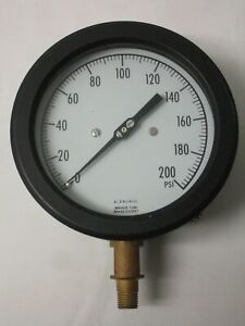 Acragage 0 200 Psi Pressure Gauge Gage Bronze Tube Brass Socket