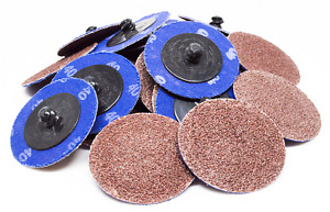 150 2 Roloc A o Quick Change Sanding Disc 24 36 40 60 80 120 Grit Bundle