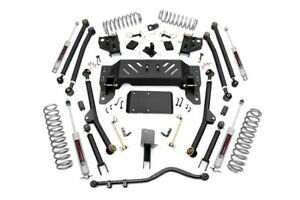 4 Long Arm Suspension Lift Kit For Jeep Grand Cherokee Zj 93 98 Rough Country