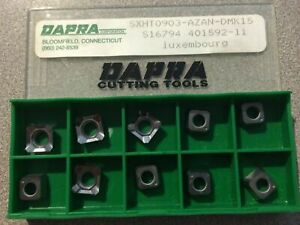 Dapra Cutting Tools Sxht0903 Azan Dmk15 S16794 Carbide 10 Inserts Turning Lathe