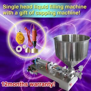 Usa Stock Now pneumatic Cosmetic cream Sauce Filler filling Machine With Capper