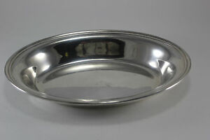 Vintage Silver Plate Oval Server Cover With Lowered Handles Serving Bowl