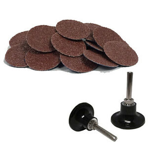 100 2 Roloc A o Quick Change Sanding Disc 40 Grit And Mandrel Disc Holder