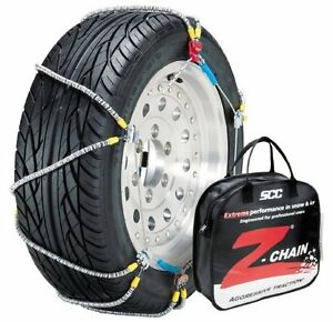 Pair Of Z Chains Snow Chains For 215 55r17 215 65r16 Light Trucks Vehicles