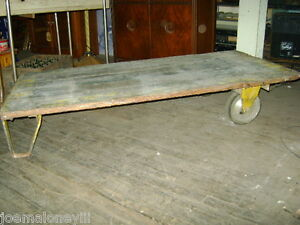 Vintage Urban Industrial Wooden Cart