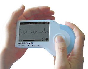 Md100b Palm Ecg Monitor Fda With 50 Tab Electrodes And Special Leads Wire