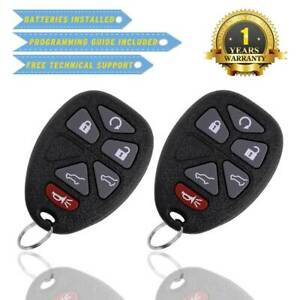 2 Keyless Entry Remote Control Car Key Fob Replacement For Chevrolet 15913427