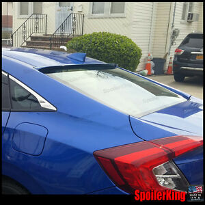 Rear Roof Spoiler Window Wing fits Honda Civic 2016 on 4dr Fc Spoilerking