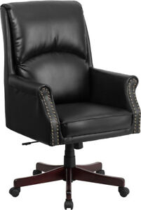 Flash Furniture High Pillow Back Black Leather Executive Swivel Office Chair