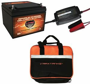 Vmax 800s Bc1204 3 3a Charger Case 12v 28ah Agm Solar Battery For Camping