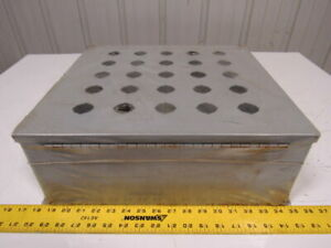 Hoffman E 25pby25 58830 Pushbutton Enclosure 25 Hole Hinged Door 16 X 15 X 6