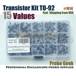 600pcs 15value a1015 2n5551 Bipolar Signal Transistor To 92 Npn Pnp Kit Set